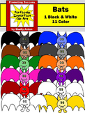 Halloween Clipart Colorful BATS Clip Art Primary Colors Clip Art