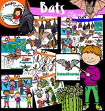 Bats Clip Art- big set- 100 items!