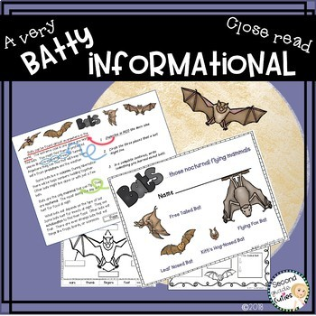 Bats Close Reading , Informational text, annotation to show text evidence