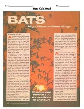 Bats Cold Read based on Florida Standards