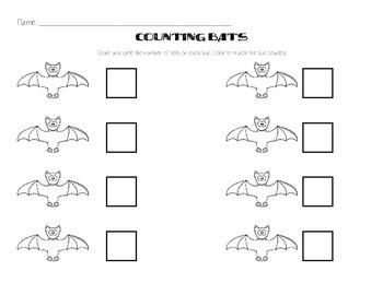 Bats Counting Kindergarten