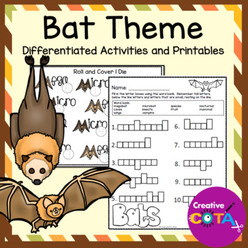 Bats Differentiated Activities and Worksheets