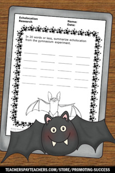 Echolocation Experiments & STEM Activities for Halloween Bat Centers