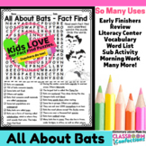 Bats: All About Bats Reading and Word Search Activity