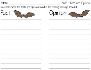 Bats - Fact/Opinion