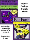 Bat Activities: Five Little Bats & Bat Facts Halloween Activity Bundle-Color+B/W