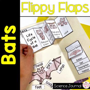 Bats Flippy Flaps Interactive Notebook Lapbook