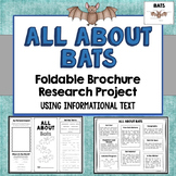 Bats Foldable Brochure Research Project, Using Information