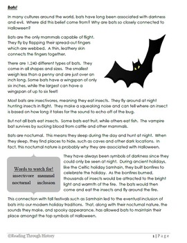 Bats: Free Halloween Lesson (4th and 5th Common Core)