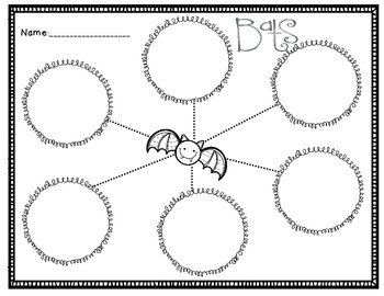 Bats Graphic Organizer Free By Jessica Peterson Tpt