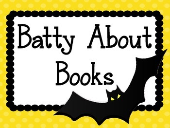 Bats Halloween Bulletin Board Set. Reading.  Batty About Books. October