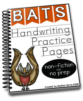 Bats: Handwriting Practice Pages
