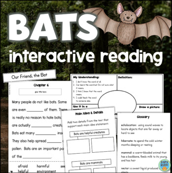 All About Bats Interactive Reading Comprehension