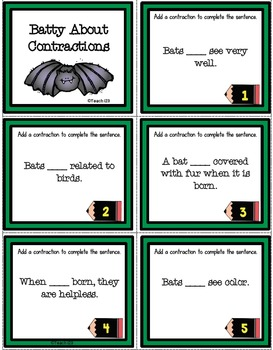 BAT Reading Comprehension Interactive Journal Task Cards