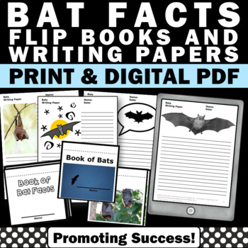Bats Little Book and Writing Activities for Halloween or S