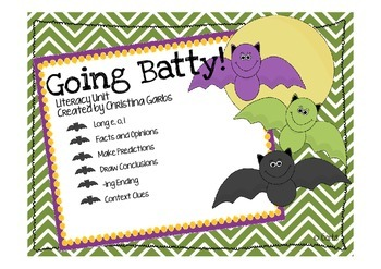 Bats - Long Vowels and Other Literacy Activities