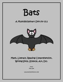 """""""Bats"""" Math and Literacy Unit - Aligned with Common Core Standards"""