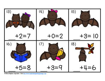 Bats Missing Number Equations Task Cards