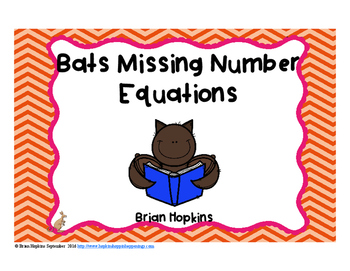 Bats Missing Number Equations Task Cards