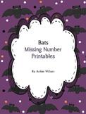 Bats Missing Number worksheets