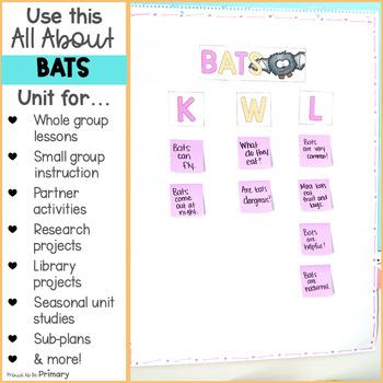 Bat Non-Fiction ELA & Animal Science Unit
