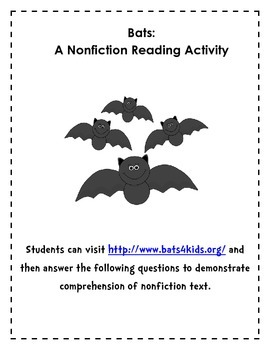 Bats Nonfiction Comprehension Activity