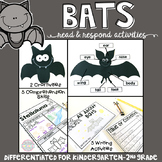 Bats: Reading Comprehension, Writing and Craftivities
