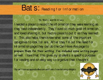 Bats: Read for Information