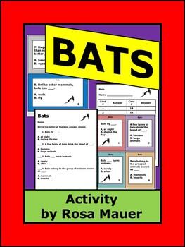 Bats Task Cards