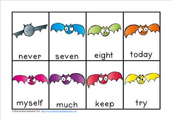 Bats Sight Word Race