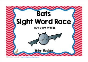Bats Sight Word Race