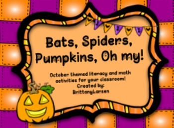 Bats, Spiders, Pumpkins, Oh My!