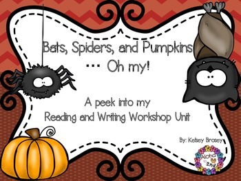 Bats, Spiders, and Pumpkins...Oh my! Reading Workshop Freebie