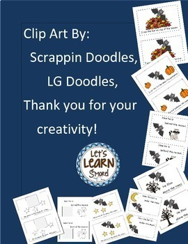 Bats Emergent Reader, Positional Word Cut and Paste for Fall Activities