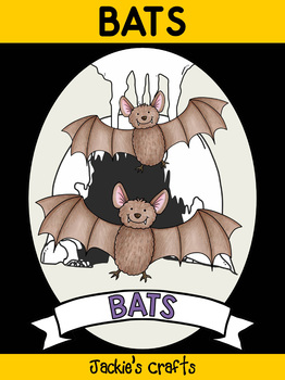 Bats - Writing Activity and Graphic Organizer Book Template, Animal Craft