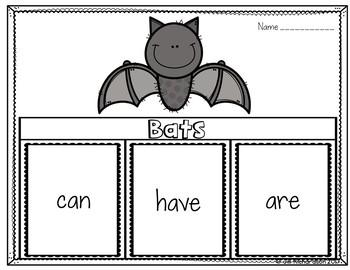 Bats Writing Flap Books! Bats Kindergarten, First Grade, and Second Grade