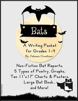 Bats Writing Packet For Grades 1-4