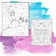 Bat Coloring Sheets. Zen Doodle Pages.