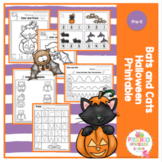 Bats and Cats Halloween Printable No Prep