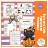 Bats and Cats Halloween Printable No Prep