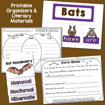 Bats and Owls Unit: PowerPoint and Printables, Nonfiction