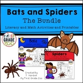 Bats and Spiders - Literacy and Math Bundle