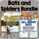 Bats and Spiders Bundle, Using Informational Text, Science Brochure, Diagrams