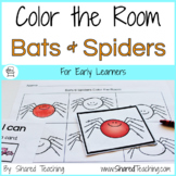 Bats and Spiders Color the Room