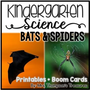 Bats and Spiders Kindergarten Science NGSS