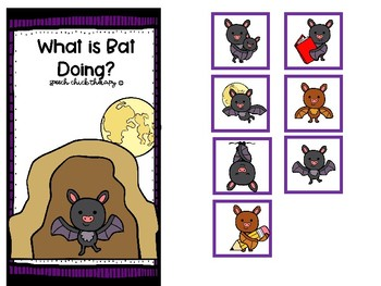 Bats and Verbs-A Packet of Present Progressive Verbs for Speech Therapy