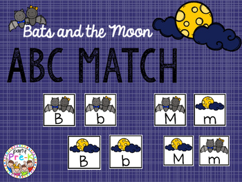 Bats and the Moon ABC Match