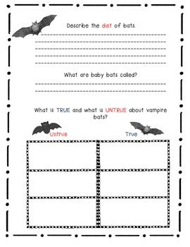 Bats by Gail Gibbons- A Nonfiction Book Response Journal