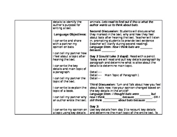 Bats by Gail Gibbons Close Reading lesson