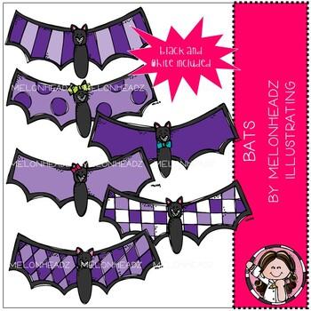 Bats clip art - Mini - Melonheadz Clipart